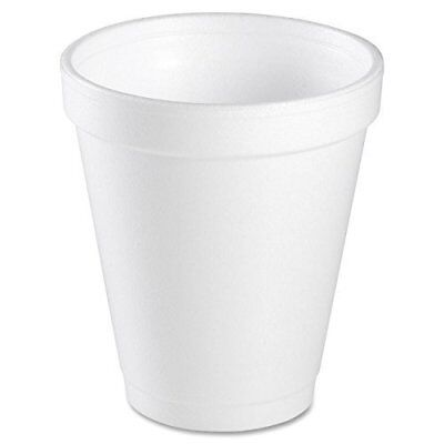 Dart 6J6 Disposable Foam Cup, White, 6 oz (Case of 1000)