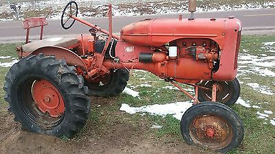 allis chalmers b with plow