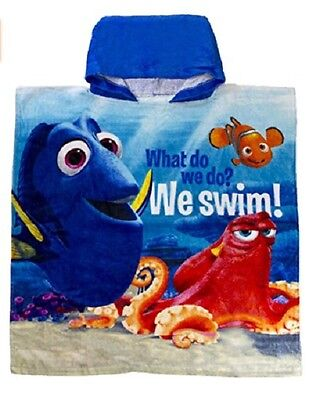 Disney Finding Dory Hooded Beach Towel Poncho One Size