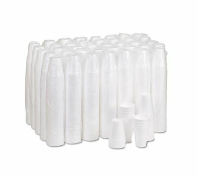 Dart 10J10 Disposable Foam Cup, White, 10 oz (Case of 1000)