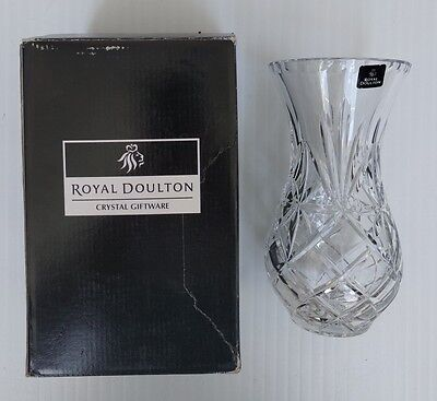 "Royal Doulton Crystal Urn Vase 8"" (20cm) - 2003 Czech Republic"