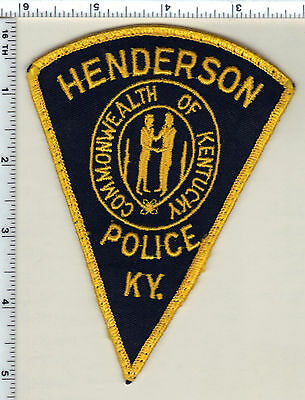 Henderson Police (Kentucky) uniform take-off patch - new from 1990