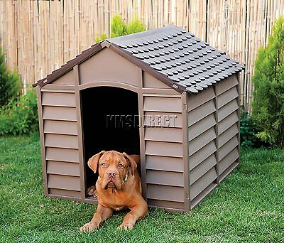 Starplast Heavy Duty Plastic Garden Dog Kennel Pet Shelter Large Durable Outdoor