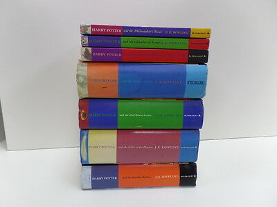 Bloomsbury Harry Potter 1ST First Edition set of 7 books