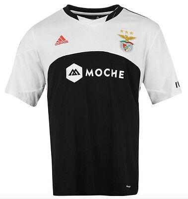 Adidas Benfica Lisbon Portugal Away Kit 2015 2016 Black-white Size S New