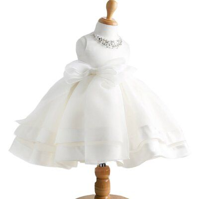 Baby Girl Dress Christening Baptism Gowns Sequined Formal Dress 0-6 Months