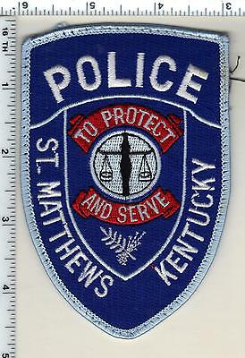St. Matthews Police (Kentucky) uniform take-off patch - from the 1980's
