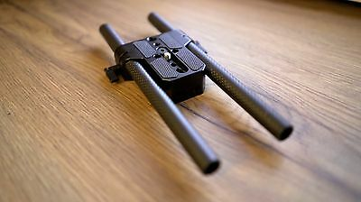 SmallRig Low Profile Tripod Base Plate and Carbon Fibre Rods for camera rig