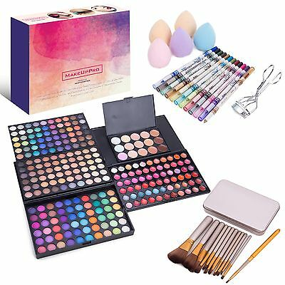 MakeUpPro - 291pcs Complete Beauty Kit With 180 Color Make-Up Eye Shadow Shimmer