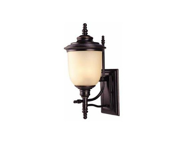Hampton Bay Chelsea Collection Mediterranean Bronze Finish 3 Light 10 In. Wall L