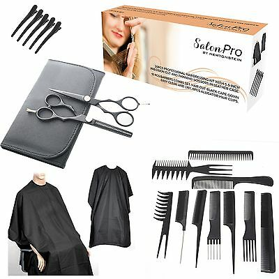 SalonPRO - 20pcs Professional Hairdressing kit with 5.5 inch precision cut and t