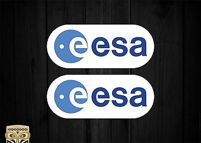 Pegatina Sticker Autocollant Aufkleberkit Esa Logo European Space Agency