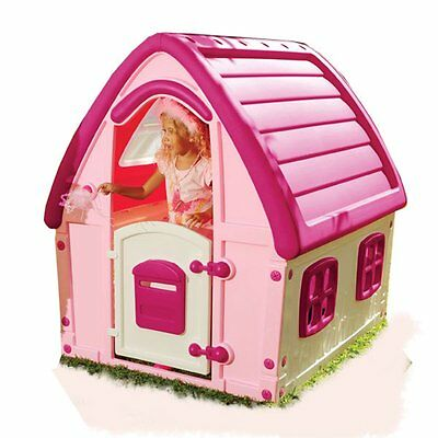 Starplast Pink Outdoor Playhouse Strong Durable Plastic 123.5cm High Wendy House