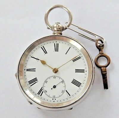 Antique Solid Silver  Lever  Pocket Watch  1900 Fwo Mint