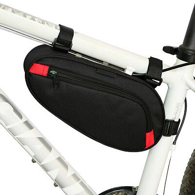 Bicycle Bike Waterproof Front Frame Pannier Tube Tool Storage Bag Saddle Pouch