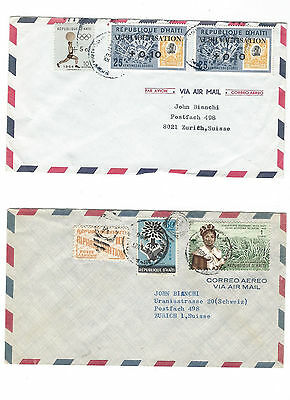 4 covers from République d'Haïti to Zurich .... see scans and details.