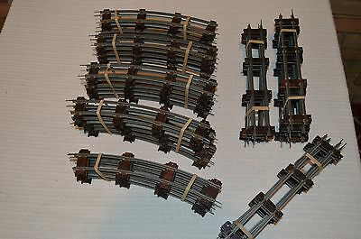 """Antique  Gilbert American Flyer Train Track 3/16 Scale Curves & Straights 10"""""""