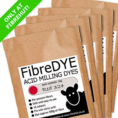 FIBREDYE 10g - Acid milling dyes for wool, fibre, fleece & feathers