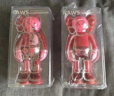 KAWS COMPANION BLUSH SET - Sealed set of 2 figures - In hand ships from UK now