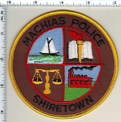 Machias - Shiretown Police (Maine) Shoulder Patch - new from 1992