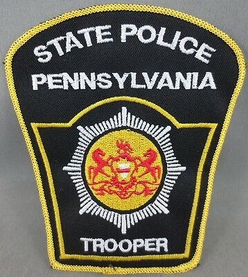 """State Police Pennsylvania Trooper Shoulder Embroidered Patch - 4.5"""" X 4"""" Prop"""