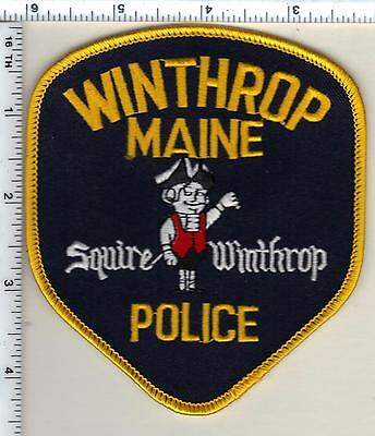 Winthrop Police (Maine) Shoulder Patch - new from 1992