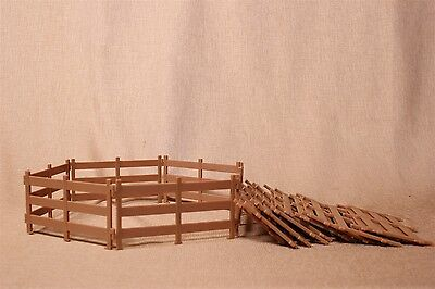 20 piece 6.5 X 3.5 Inch Plastic Fence for play - Works well with Schleich
