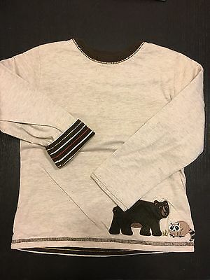 Janie and Jack 2-3 T boys brown reversible Sweater 2 Side