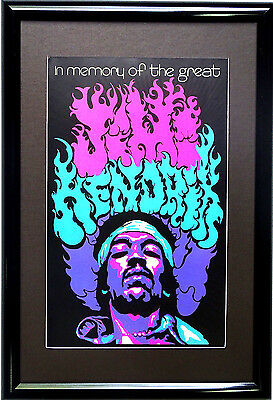 Choose from 60 different 1960's matted and framed Psychedelic Blacklight Posters
