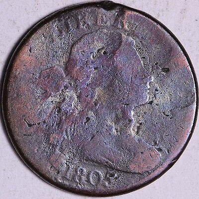 1805 Draped Bust Large Cent W/ Issues Affordable Coin R7NT