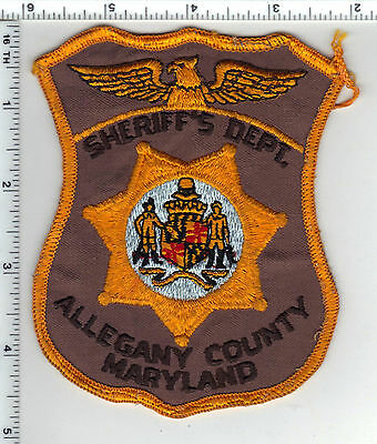 Allegany County Sheriff's Dept. (Maryland) uniform take-off patch from 1980's