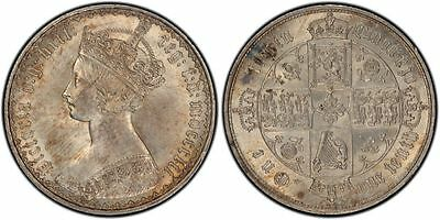 GREAT BRITAIN 1852 Silver Gothic Florin, Two Shillings PCGS MS64 KM746.1; S-3891
