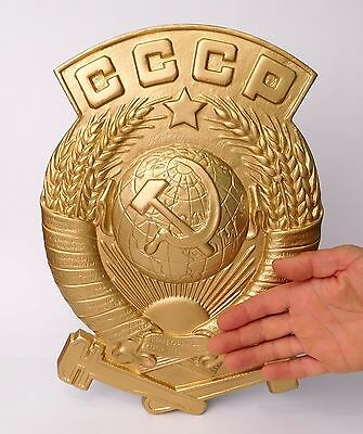 Original Russian  USSR  Coat of Arms of the Soviet Union .
