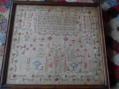 George Iii Sampler Dated 1820 By Jane Post Age 9 Years