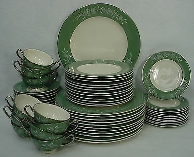 SYRACUSE china CANDLELIGHT pattern 60-piece SET PLACE SETTING for TWELVE (12)