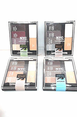 NYC INDIVIDUAL EYES EYE SHADOW PALETTE choose your colour