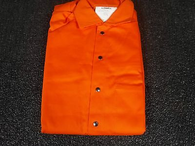Flame Resistant Coverall, Orange, Cotton, S, 5WYR4(P)