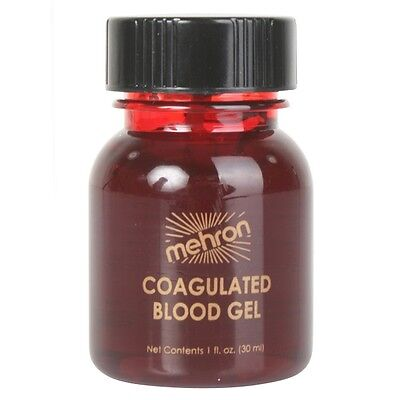 Mehron Coagulated Blood Gel 1oz- BRAND NEW Special FX Makeup for clots and stabs