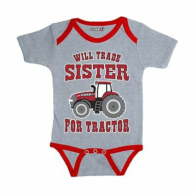 Case IH Will Trade Sister Infant Tractor Bodysuit