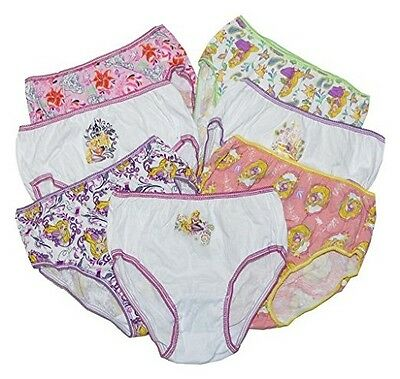 "Girls ""Tangled"" 7 Pair Panty Pack"
