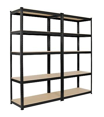 Racking 2 bay Shelving Unit Heavy Duty 5 Tier Shelf Steel Double