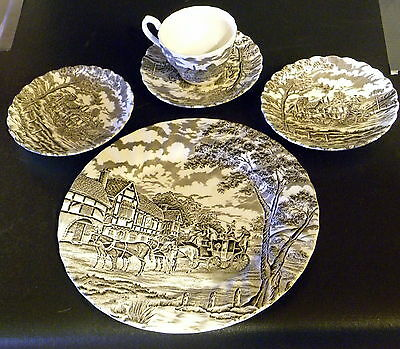 Myott -  Royal Mail Made In England - 1 Dinner Plate - 1 Cup - 3 Saucers .......