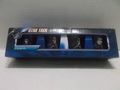 Star Trek Set Of Four 2oz. Shot Glasses #53099 NIB 2012!
