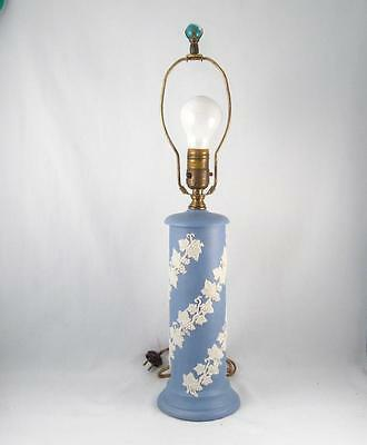 Antique Ecanada Art Pottery Jasperware Emery 1926 Table Lamp Wedgwood Style