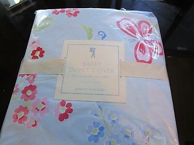 Pottery Barn Kids Bailey butterfly  Duvet  twin blue  New with tags