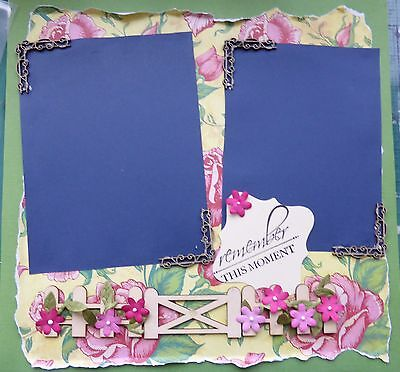 Lovely Handmade 12 X 12 Scrapbook Page Remember This Moment
