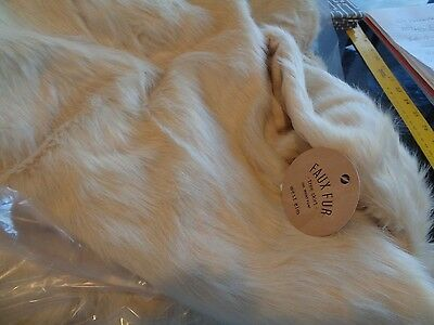West Elm faux fur Tree skirt Christmas blush New with tags