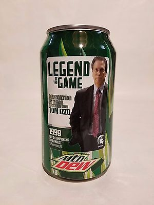 Michigan State Spartans Tom Izzo Limited Edition Unopened Mountain Dew Can