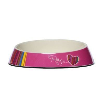Rogz Fishcake Bowlz Pink Candy Stripes Bowl