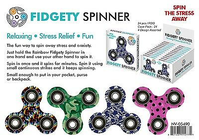 Fidget Spinner Assorted Prints Lot of 96 units - Retail Ready Displays